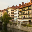 Stock Photo: Medieval facades in Ljubljanold city centre