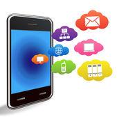 Vector smart phone applications — Stock Vector