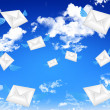 Email in the blue sky — Stock Photo