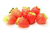 Fresh strawberries isolated on white background — Stock Photo