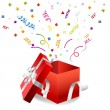 Royalty-Free Stock Vector Image: Vector open Christmas box