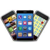 Illustration of smart phones set — Stock Photo