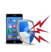 Vector smart phone security — Stock Vector