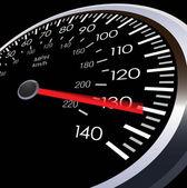 Vector car speed meter — Stock Vector