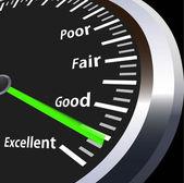 Vector speed meter for evaluation — Stock Vector