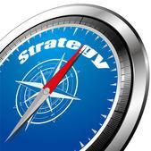 Vector strategy compass — Stock Vector