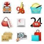 Shopping icons   Bella series — Stock Vector