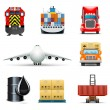Stock Vector: Shipping and cargo icons | Bellseries