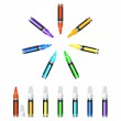 Markers — Stock Vector