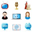 Social and communication icons | Bella series - Stockvektor