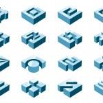 3D Design-Elemente — Stockvektor