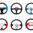 Steering wheel icons - Stock Vector