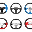 Steering wheel icons — Stock Vector