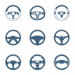 Steering wheel icons | Piccolo series — Imagen vectorial