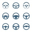 Stock Vector: Steering wheel icons | Piccolo series