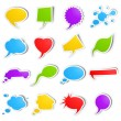 Bubble speech stickers — Stock Vector
