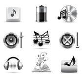 Music icons   Bella series — Stock Vector
