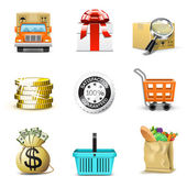 Shopping icons | Bella series, part 2 — Stock Vector