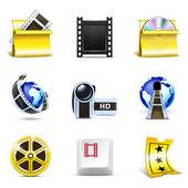 Film simgeler | Bella serisi — Stok Vektör