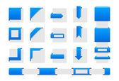 Web wrap hoeken — Stockvector