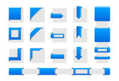 Web wrap hörnen — Stockvektor