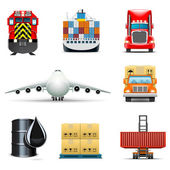 Shipping and cargo icons | Bella series — Stock Vector
