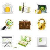 Bank pictogrammen | bella series — Stockvector