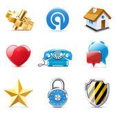 Web icons   Bella series — Stock Vector