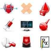 Iconos médicos | serie bella — Vector de stock