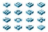3D design elements — Stock Vector