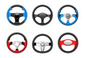 Steering wheel icons — Stock Vector