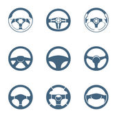 Steering wheel icons | Piccolo series — Stockvector
