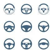 Steering wheel icons | Piccolo series — Stock Vector