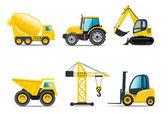 Las máquinas de construcción | serie bella — Vector de stock