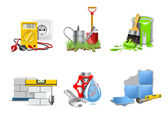 Renovation icons | Bella series — Stock Vector