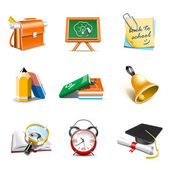 School icons | Bella series — Stock Vector
