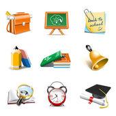 School icons | Bella series — Stock Vector