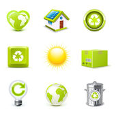 Ecology icons | Bella series — Stock Vector