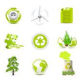 Environmental icons   Bella series — Stock Vector