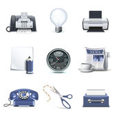Iconos de oficina | serie bella — Vector de stock