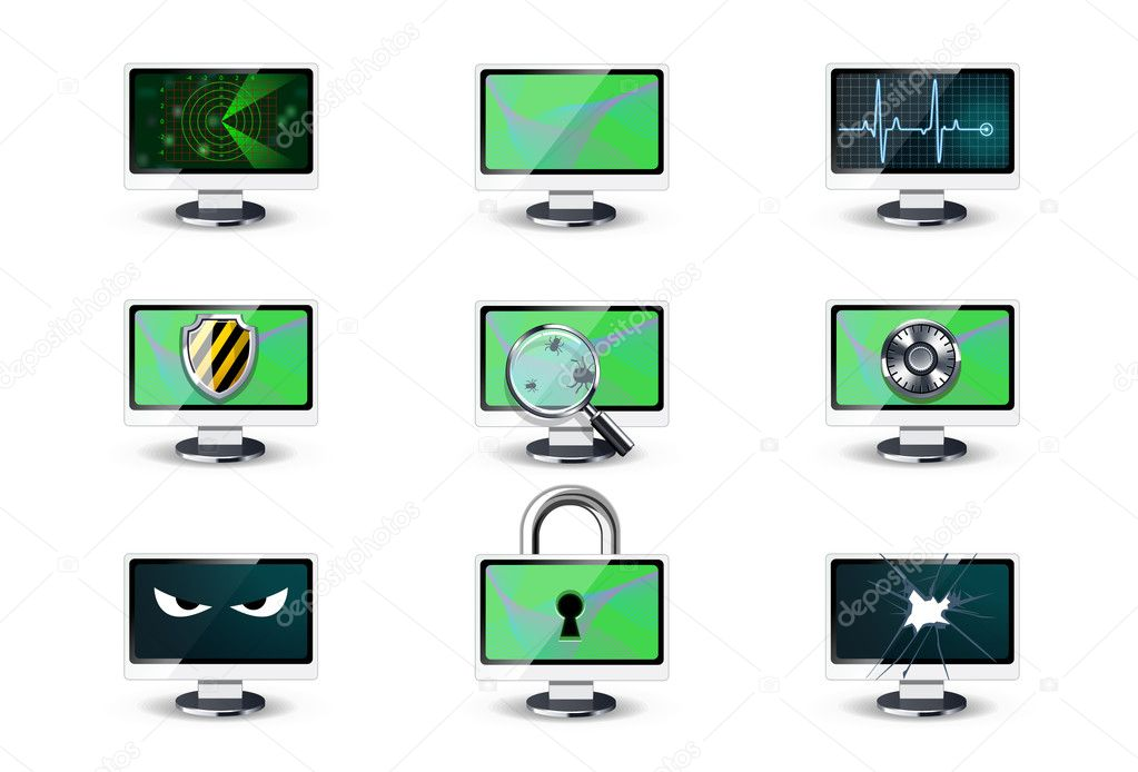 Computer security concepts  Stock Vector #6943634