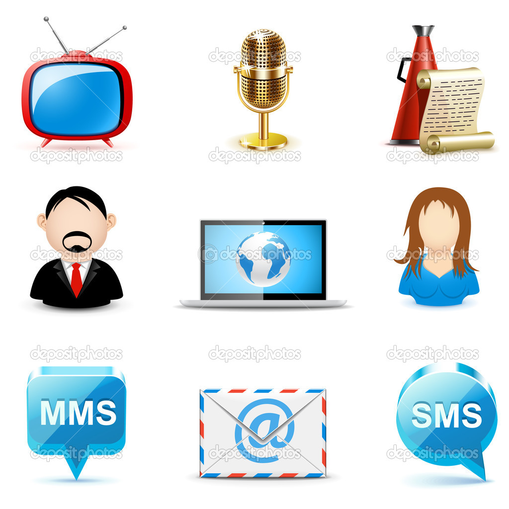 Social and communication icons | Bella series — Stock Vector #6943656