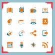 Royalty-Free Stock Vector Image: Communication icons | In a frame series