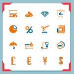 Financial icons | In a frame series — Vector de stock