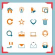 Web and internet icons | In a frame series — Vector de stock  #7435632