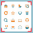 Web and internet icons | In a frame series — Stockvector