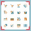 Shopping icons | In a frame series - Stock Vector