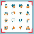 Social and communication icons | In a frame series — Stock Vector