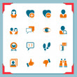 Social and communication icons | In a frame series - Stock Vector