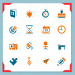 Stock Vector: Business and office icons | In a frame series
